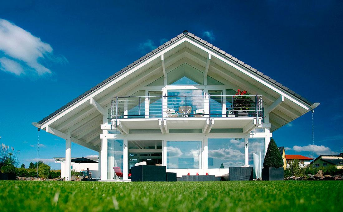 Progettazione case lusso in legno vetro flock haus for Case in vetro
