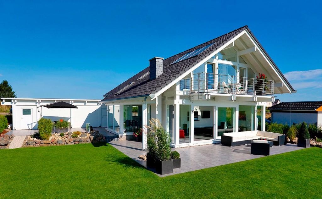 progettazione case lusso in legno vetro flock haus
