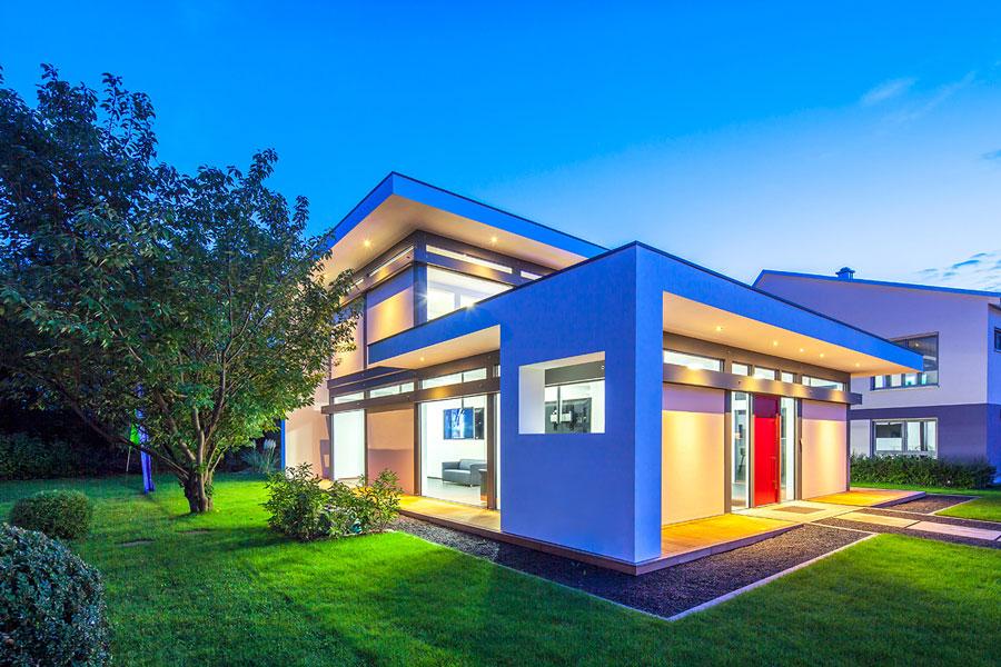 casa in legno e vetro di design flock haus switzerland. Black Bedroom Furniture Sets. Home Design Ideas