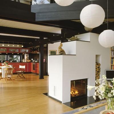 FLOCK Haus Switzerland realizzazione interni case legno-vetro